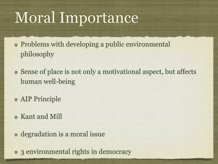 Moral Importance