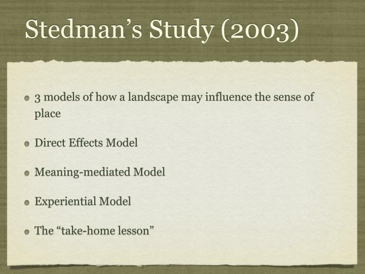 Stedman's Study (2003)