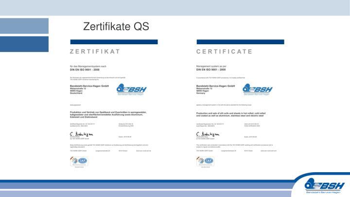 Zertifikate QS
