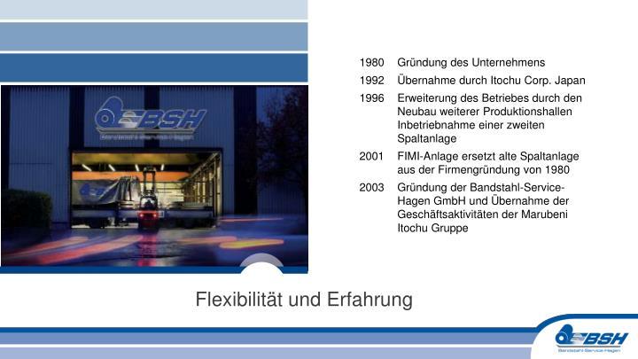 1980 Gründung des Unternehmens