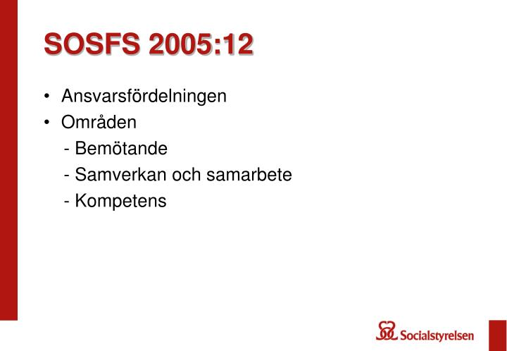 SOSFS 2005:12