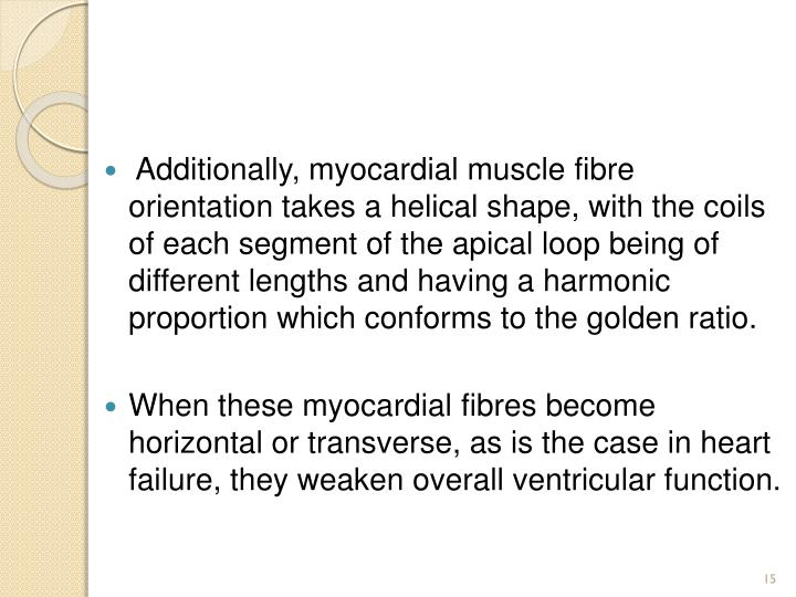 Additionally, myocardial muscle
