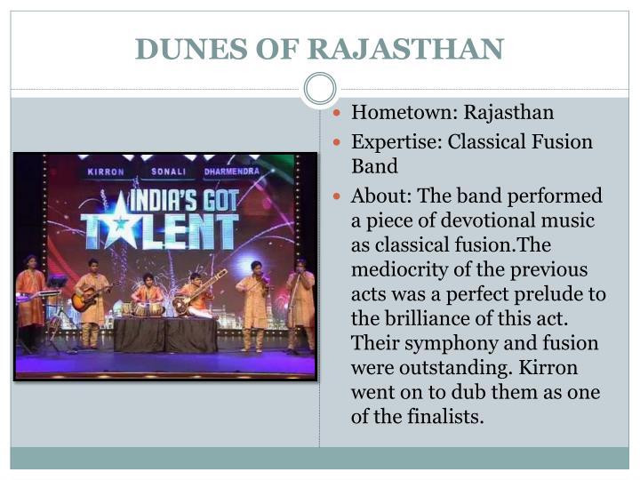 DUNES OF RAJASTHAN