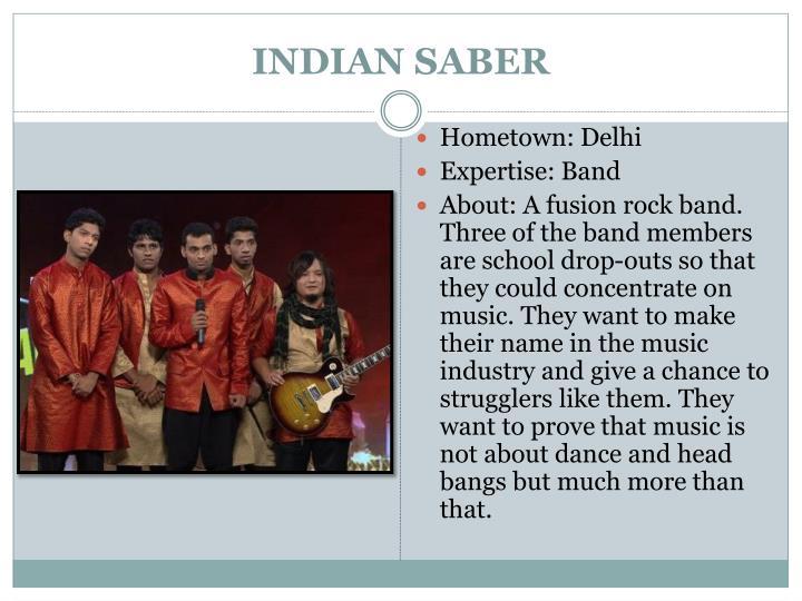 INDIAN SABER
