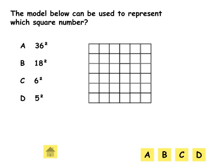 The model below can be used to represent which square number?