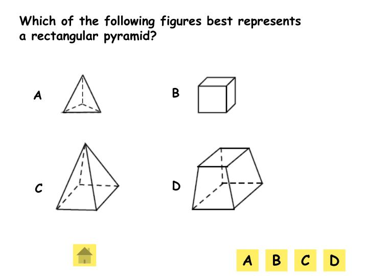 Which of the following figures best represents a rectangular pyramid?