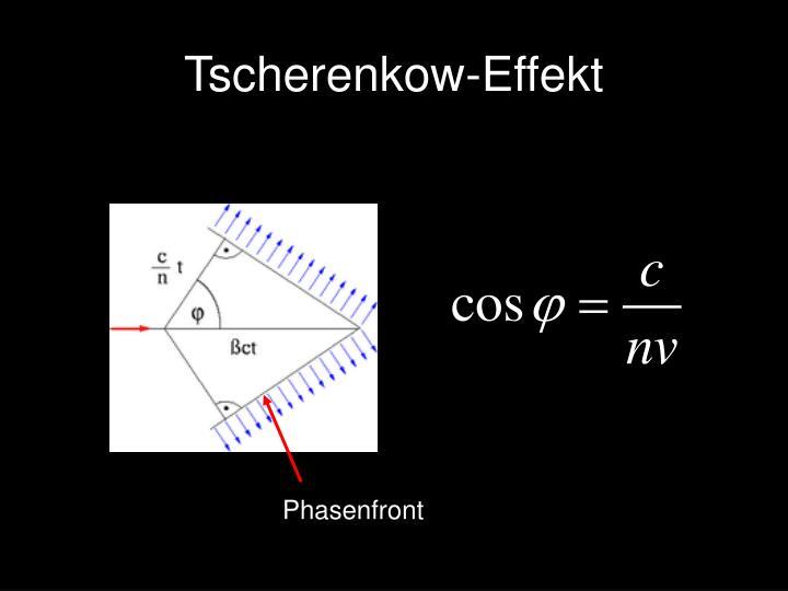 Tscherenkow-Effekt
