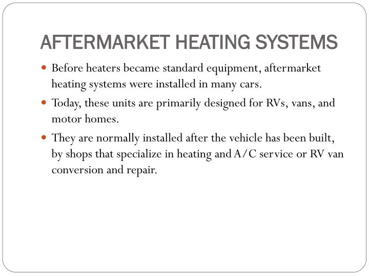 AFTERMARKET HEATING SYSTEMS