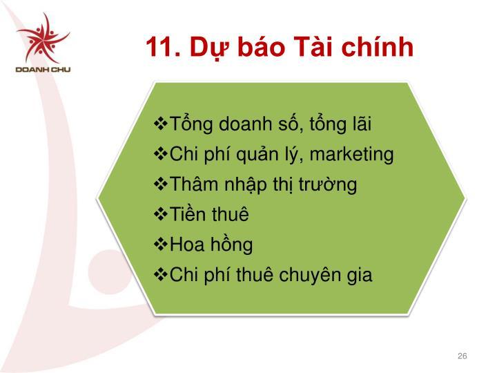 11. Dự báo Tài chính