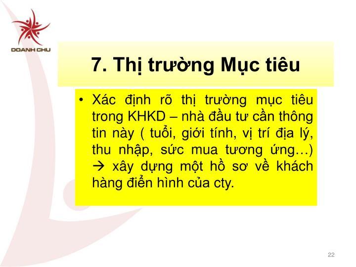 7. Thị trường Mục tiêu