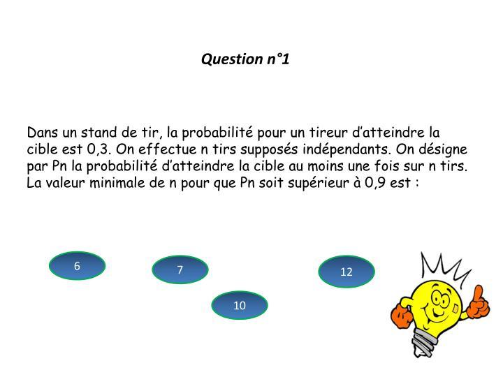 Question n°1