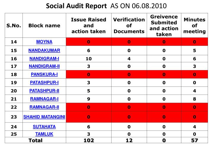 Social Audit Report