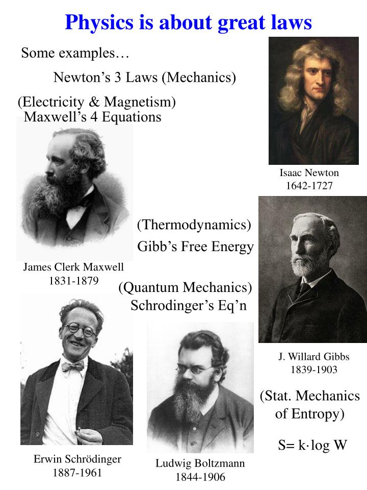 Physics is about great laws