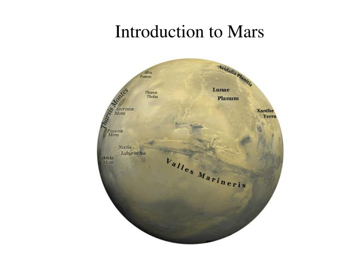Introduction to Mars