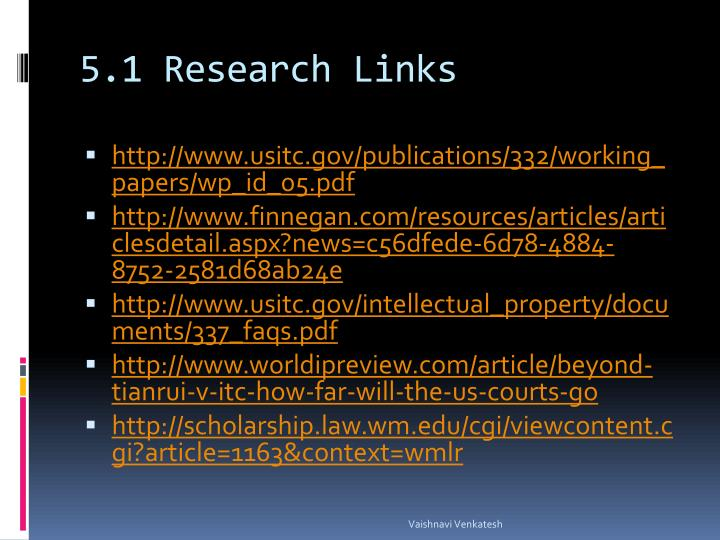 5.1 Research Links
