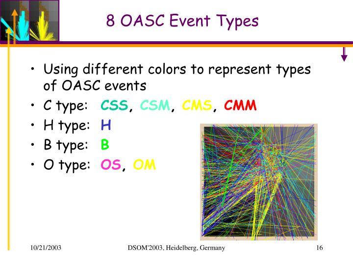 8 OASC Event Types