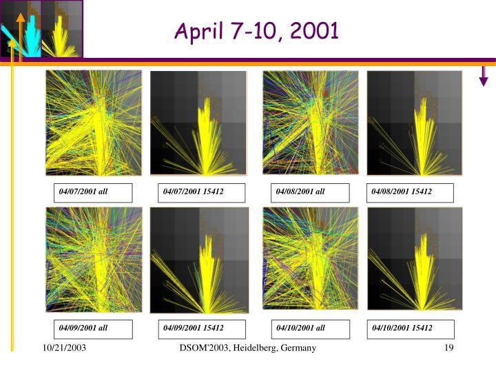 April 7-10, 2001