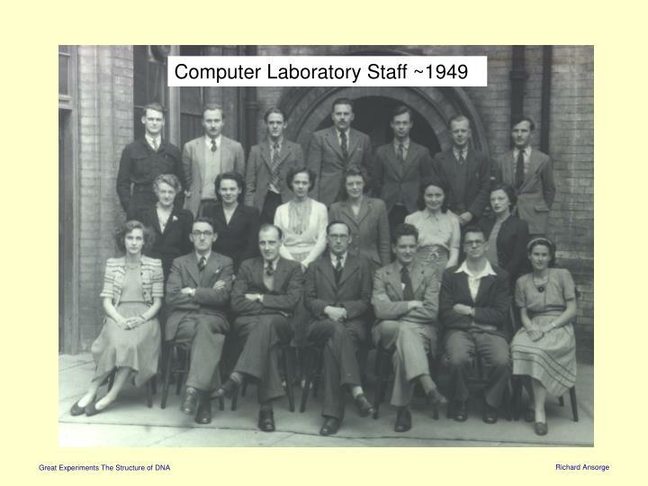 Computer Laboratory Staff ~1949