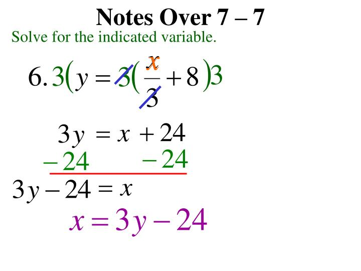 Notes Over 7 – 7