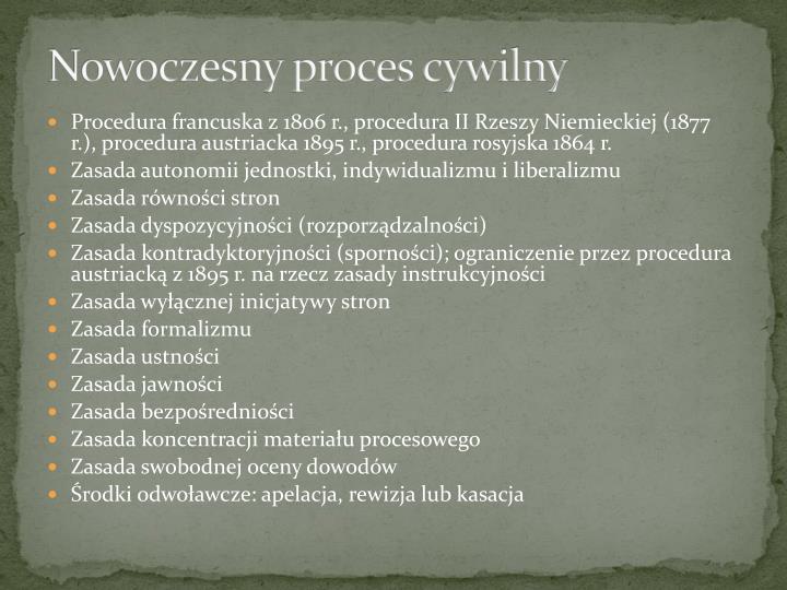 Nowoczesny proces cywilny