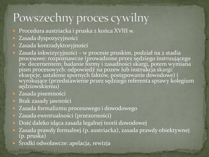 Powszechny proces cywilny