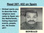 read 397 402 on spain