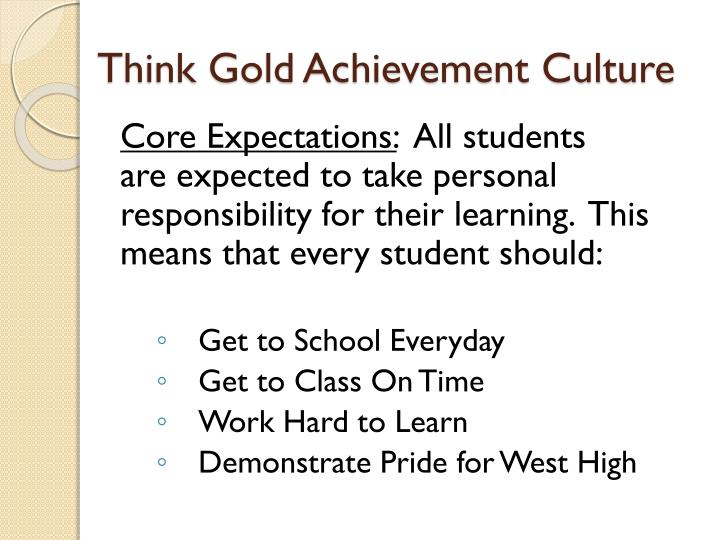 Think Gold Achievement Culture