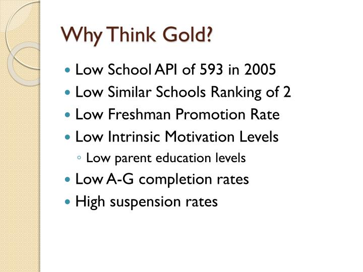 Why Think Gold?