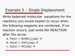example 5 single displacement