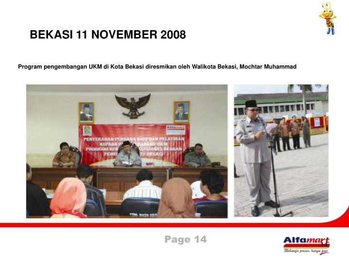 BEKASI 11 NOVEMBER 2008