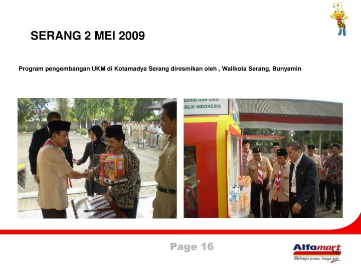 SERANG 2 MEI 2009