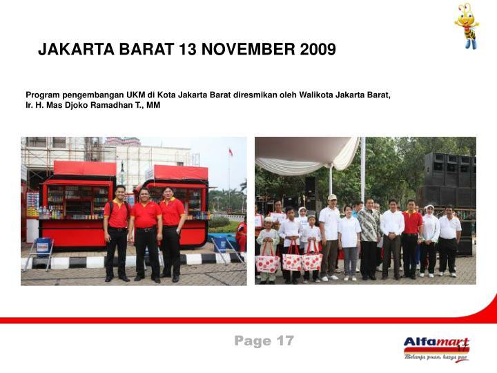 JAKARTA BARAT 13 NOVEMBER 2009