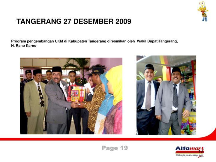 TANGERANG 27 DESEMBER 2009