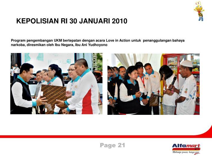 KEPOLISIAN RI 30 JANUARI 2010
