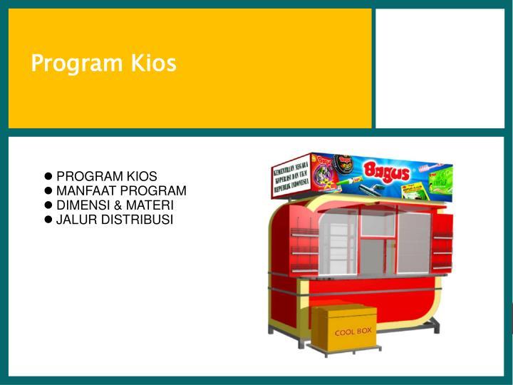 Program Kios