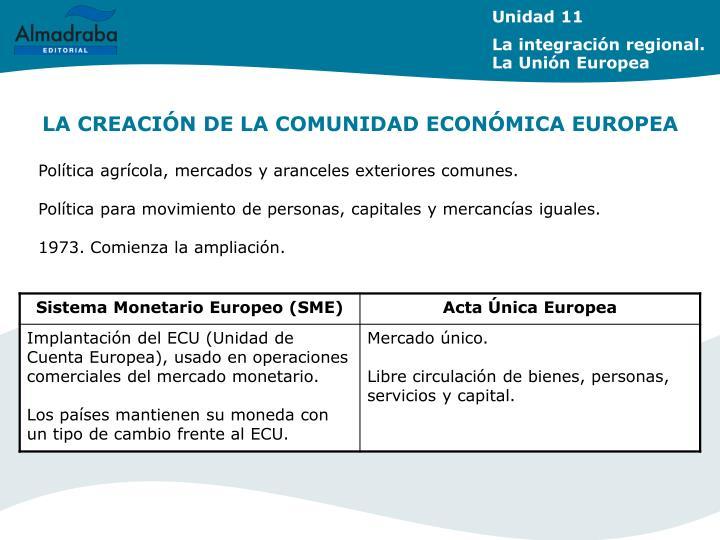 LA CREACIÓN DE LA COMUNIDAD ECONÓMICA EUROPEA