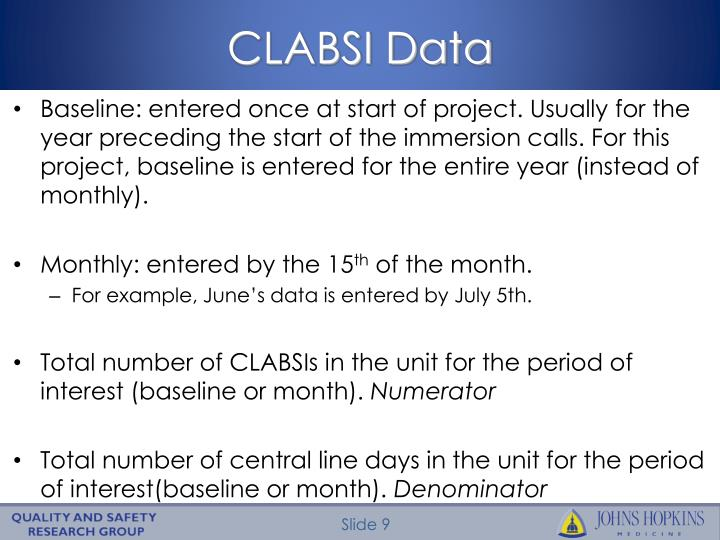 CLABSI Data