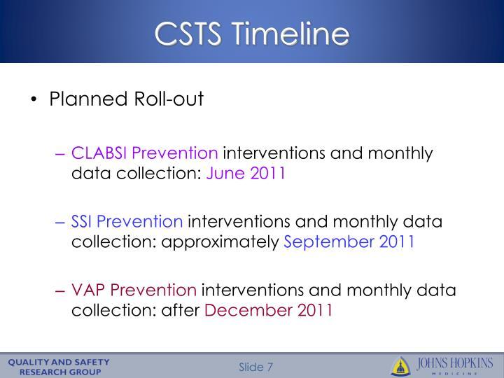 CSTS Timeline