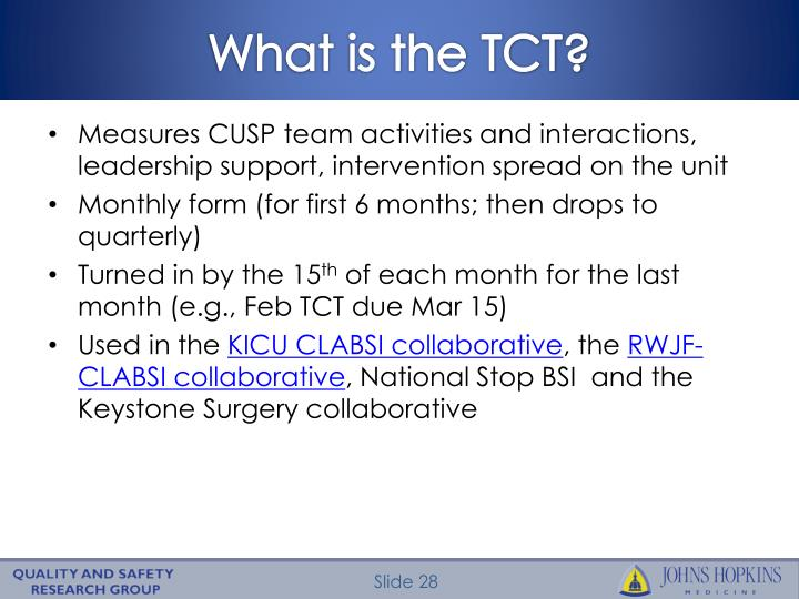 What is the TCT?