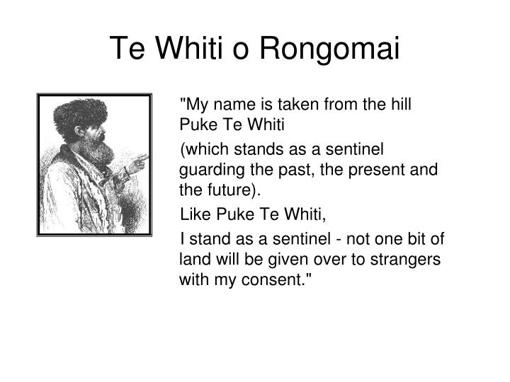 te whiti o rongomai a Te whiti o rongomai: an early pacifist leader image: permission of the alexander turnbull library must be obtained before any re-use of this image.