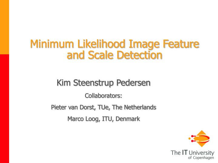 Minimum likelihood image feature and scale detection