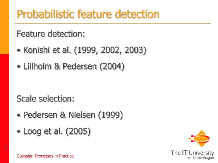 Probabilistic feature detection