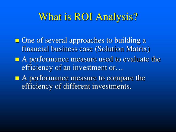 What is roi analysis