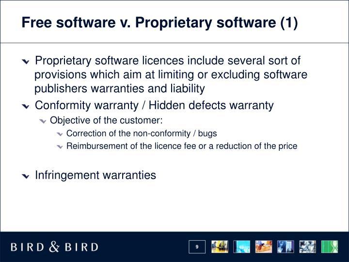 Free software v. Proprietary software (1)