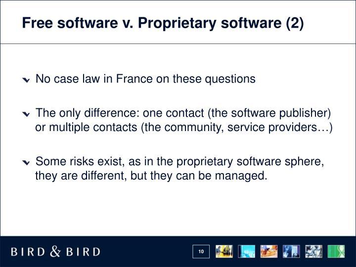 Free software v. Proprietary software (2)
