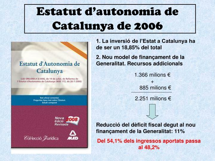 Estatut d'autonomia de Catalunya de 2006