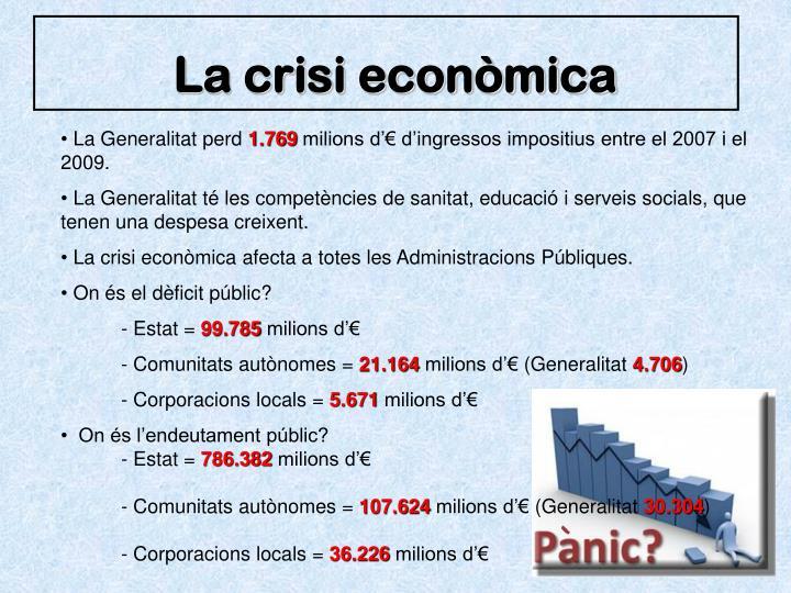 La crisi econòmica