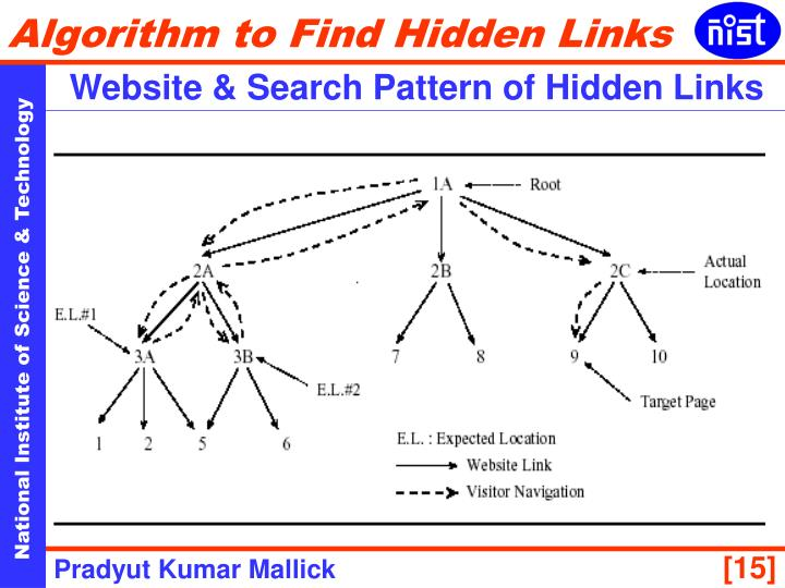 Website & Search Pattern of Hidden Links