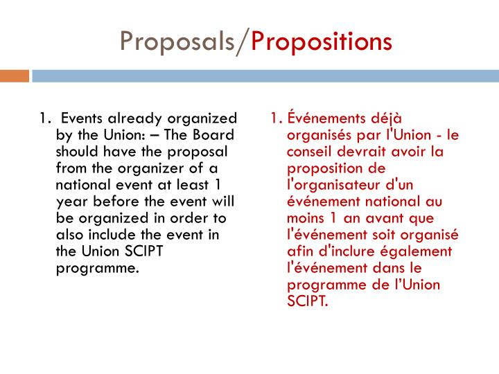 Proposals propositions2