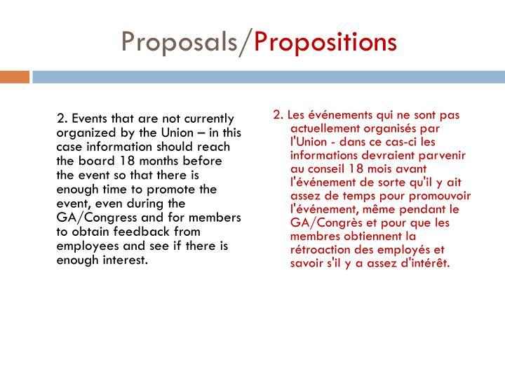 Proposals/